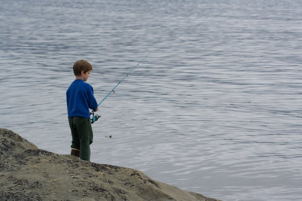 Connor Fishing for Pink Salmon